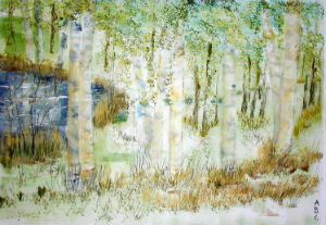 Birches Glade - by Annick Bouvron-Gromek