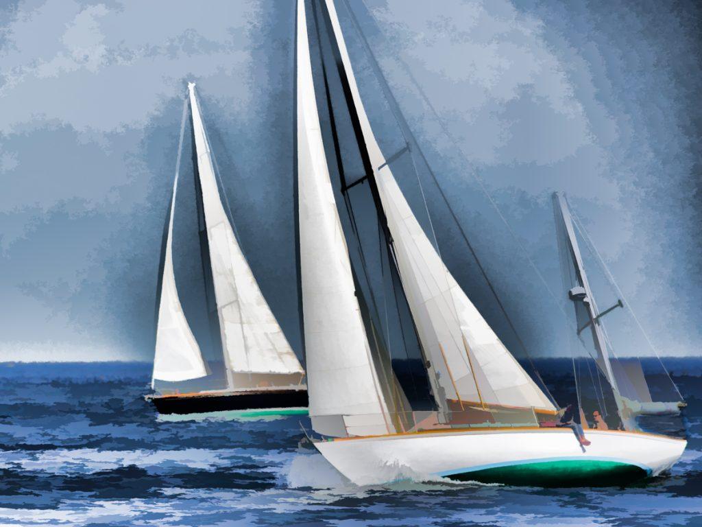 Sailing off Rye